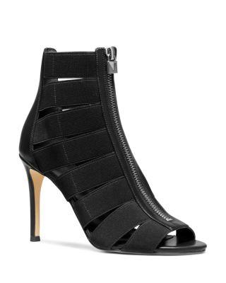 Margaret Cage High-Heel Sandal Booties