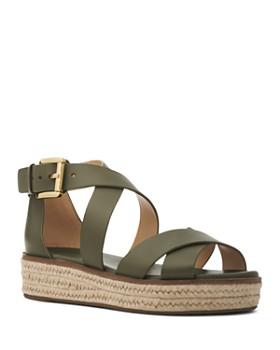 42d7cc50394d MICHAEL Michael Kors - Women s Darby Leather Espadrille Sandals ...