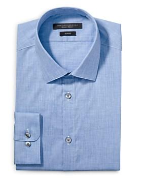 John Varvatos Star USA - Melange Solid Slim Fit Dress Shirt