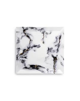 Prouna - Marble Venice Fog Matzah Plate/Square Serving Platter