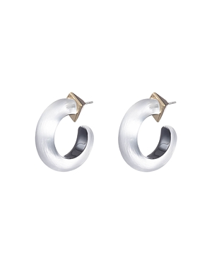 Alexis Bittar Accessories SMALL THIN HOOP EARRINGS