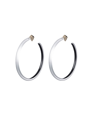 Alexis Bittar Accessories LARGE SKINNY HOOP EARRINGS