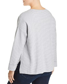 Eileen Fisher Plus - Lightweight Striped Sweater