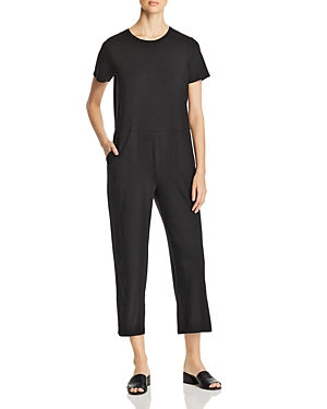 Eileen Fisher Suits SHORT-SLEEVE CROPPED JUMPSUIT