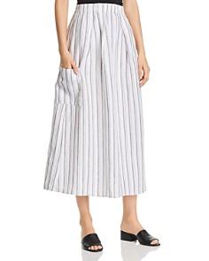 Eileen Fisher - Organic Linen Striped Skirt - 100% Exclusive