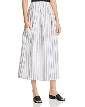 Eileen Fisher Petites - Organic Cotton Striped Skirt - 100% Exclusive