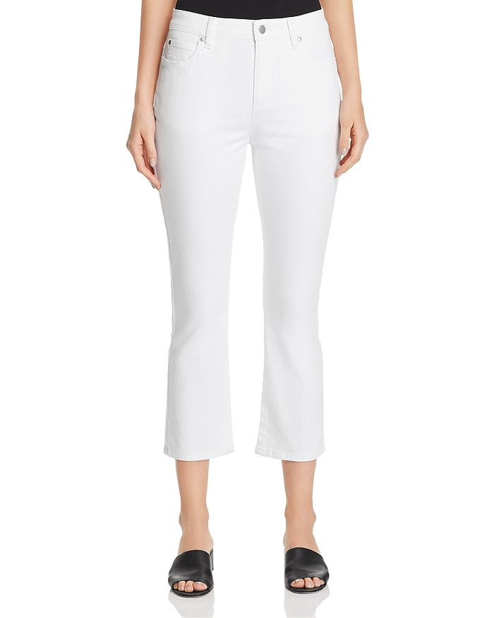 Eileen Fisher Petites - Flared Crop Jeans in White