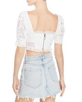 For Love & Lemons - Indio Lace Cropped Top