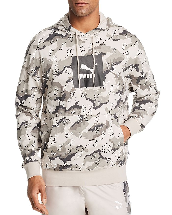 meet 47071 b02ca PUMA - Wild Pack Leopard Camouflage-Print Hooded Sweatshirt