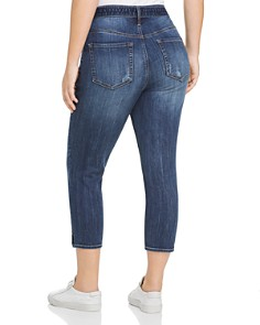 Seven7 Jeans Plus - Tie-Waist Cropped Jeans in Meditate