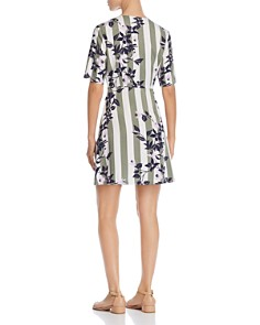 Vero Moda - Vilja Striped-and-Floral Dress