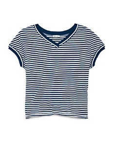 Splendid - Girls' Striped V-Neck Tee - Big Kid