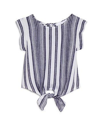 Bella Dahl - Girls' Tie-Front Striped Top - Little Kid, Big Kid