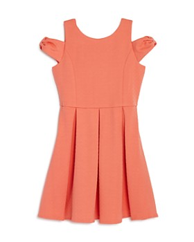 US Angels - Girls' Bow Cold-Shoulder Dress - Little Kid