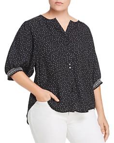 B Collection by Bobeau Curvy - Valerie Dot-Print Shirt