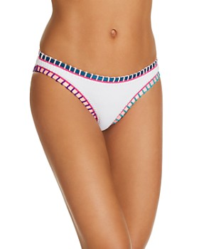 Platinum inspired by Solange Ferrarini - Color-Block Whipstitched Scoop Bikini Bottom - 100% Exclusive