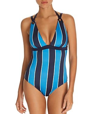 Mya Striped One Piece Swimsuit