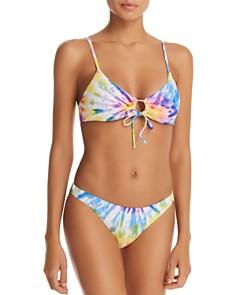 Polo Ralph Lauren - Spiral Tie-Dyed Loop Front Bikini Top & Spiral Tie-Dyed Devin Hipster Bikini Bottom