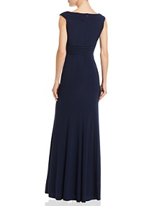 Adrianna Papell - Embellished Pintucked Gown