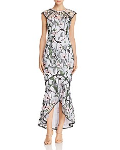 Bariano - Alex Floral-Embroidered Gown
