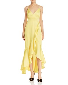 Laundry by Shelli Segal - Ruffled Satin Dress