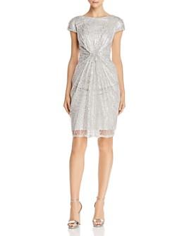 Tadashi Petites - Ruched Sequined Dress