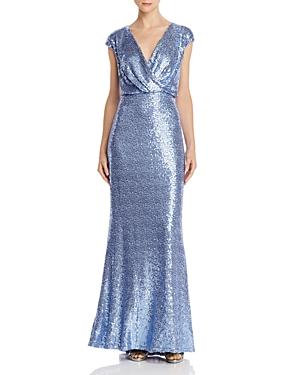 Vintage Dresses Australia- 20s, 30s, 40s, 50s, 60s, 70s Tadashi Shoji Petites Sequined Blouson Gown AUD 241.58 AT vintagedancer.com