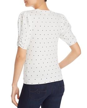 Minnie Rose - Puff-Sleeve Polka Dot Sweater