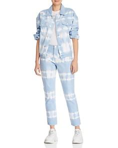 BLANKNYC - Tie-Dye Straight-Leg Jeans in Blue/White - 100% Exclusive
