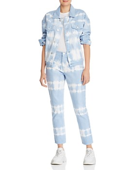 BLANKNYC - Tie-Dye Straight-Leg Jeans in Blue/White - 100% Exclusive
