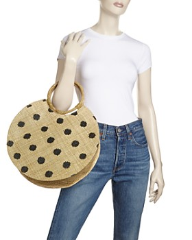 AQUA - Bello Large Polka Dot Tote - 100% Exclusive
