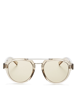 Dior Men's Fraction Brow Bar Aviator Sunglasses, 50mm