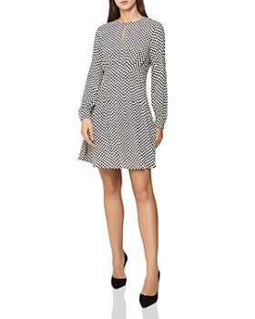 fab94509308 REISS - Edna Checker-Print Dress ...