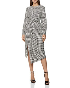 REISS - Dahlia Checker-Print Dress