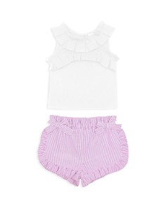 Habitual Kids - Girls' Hazel Ruffled Tank & Shorts Set - Baby