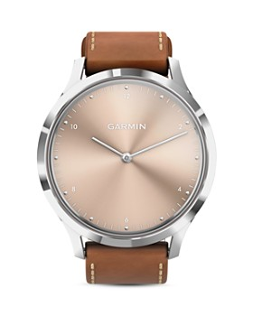 Garmin - Vivomove HR Beige Dial Touchscreen Hybrid Smartwatch, 43mm