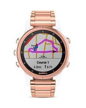 Garmin - Fenix 5S Plus Rose Gold-Tone Link Bracelet Smartwatch, 42mm - 100% Exclusive
