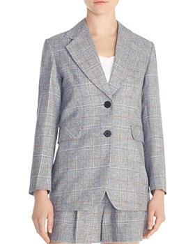 Sandro - Reynald Two-Button Plaid Blazer