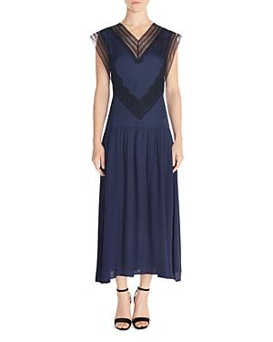 1920s Flapper Dresses, 20s Costumes in Australia Sandro Eloy Lace-Inset Maxi Dress AUD 371.98 AT vintagedancer.com