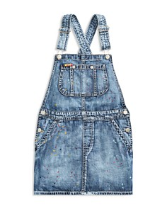 Ralph Lauren - Girls' Denim Overall Dress - Big Kid