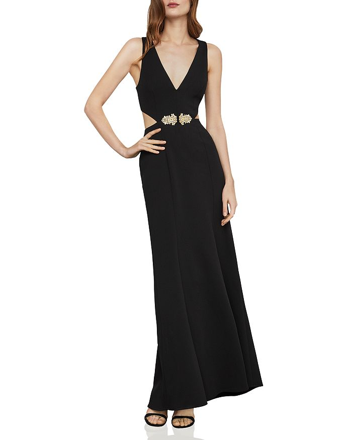 BCBGMAXAZRIA - Embellished Cutout Gown