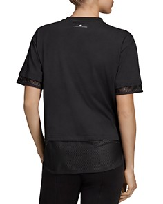 adidas by Stella McCartney - Mesh-Trim Logo Tee