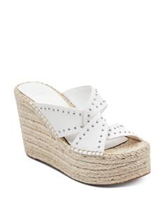 Marc Fisher LTD. - Women's Angelina Studded Espadrille Wedge Sandals
