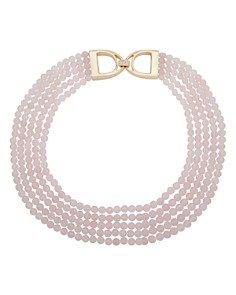 "Ralph Lauren - Multi Row Beaded Collar Necklace, 17""-21"""