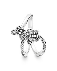 Pandora - Sterling Silver & Cubic Zirconia Open Butterfly Ring