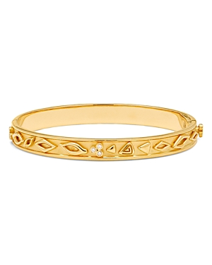 Temple St. Clair 18K Yellow Gold River Bangle Bracelet with Diamonds
