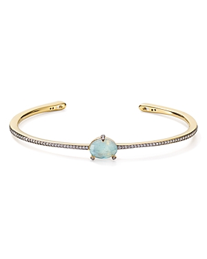 Nadri Agean Open Bangle Bracelet in 18K Gold-Plated Sterling Silver