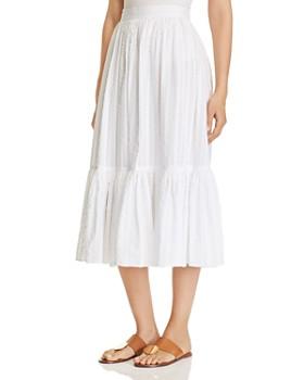 Tory Burch - Striped Seersucker Skirt