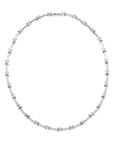 Roberto Coin - 18K White Gold Diamond Bar Necklace, 16""