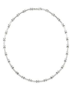 11cb8e2cfe268 Roberto Coin - 18K White Gold Diamond Bar Necklace